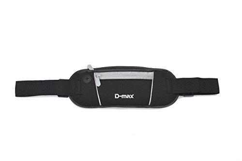 D-max Che Cintura Doppia Tasca per Cellulare - Gris e Nera