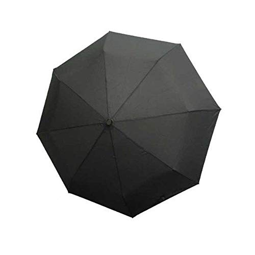 ManYHM Kreative japanische Samurai Ninja-Schwert wie Dolch Form Regenschirm Lang Griff Schwarzer Regen Sun Klappmesser Regenschirme Mode (Farbe : Schwarz, Size : 48-53cm Radius)