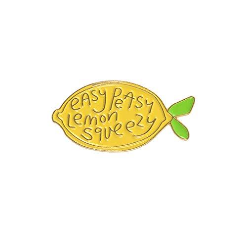 Brosche Cartoon Zitrone Emaille Buchstaben Brosche Obst Pin Rucksack Dekor Kleidung Dekoration Schmuck Kleid Ornament Nützlich und Praktisch