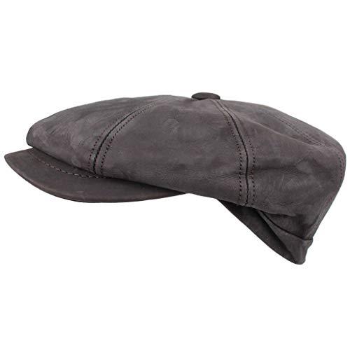 HORKA Kappe Nappaleder Braun Größe 60 Lederkappe Hut Schiebermütze Hatteras