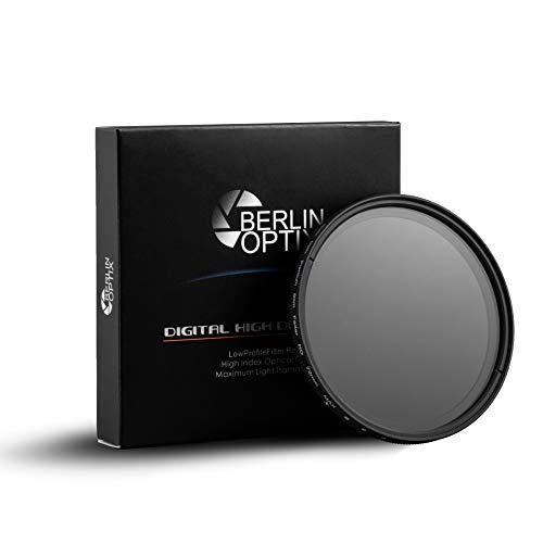 Berlin Optix Variabler ND Filter 72 mm ∙ ND2 400 Graufilter 72 mm ∙ Dämmt wirkungsvoll einfallendes Licht ∙ Perfekt für Landschaftsfotografie und Architektur Aufnahmen -