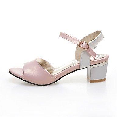 LvYuan Da donna-Sandali-Casual-Altro-Quadrato-Finta pelle-Verde Rosa Argento Pink