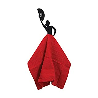 Artori Design Olé Hook | Black Metal Kitchen Towel Hanger | Rack Holder| Flamenco Dancer |Gift For Home | Housewarming | Kitchen | Mom