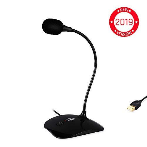KLIM Talk - Microphone USB à Pied pour PC et Mac - Compatible avec Tout Ordinateur - Micro de...