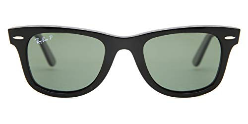 Ray-Ban 2140 Wayfarer Polarized Sunglasses - Glossy Black - size One Size