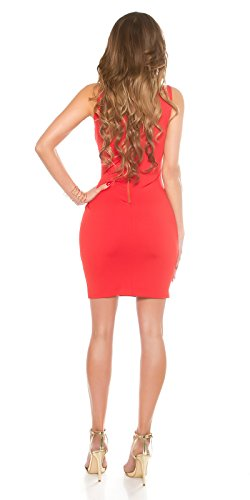 In-Stylefashion - Robe - Crayon - Femme rouge Rot taille unique Rouge