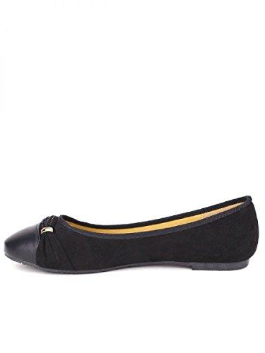 Cendriyon, Ballerine Noire ZARIA Chaussures Femme Noir