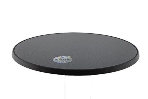 Sevelit Tischplatte Punti Design, rund, 850mm Durchmesser, wetterfest, schlagfeste Tischkante, Tischplatten ideal als Ersatzteil und zum Nachrüsten -