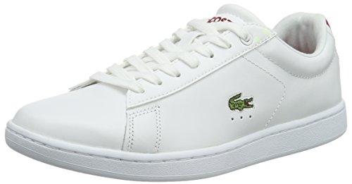 Lacoste Damen Carnaby Evo S216 3 Sneakers, Weiß (WHT/Red 286), 39.5 EU