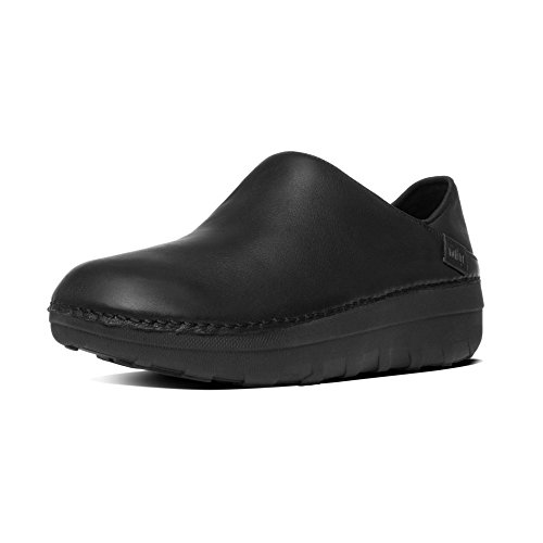 Fitflop Donna Superloafer (Leather) zoccoli nero Size: 38