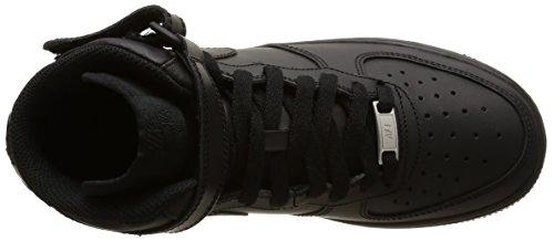 Nike Air Force 1 Mid (Gs), Chaussures de basketball mixte enfant Noir