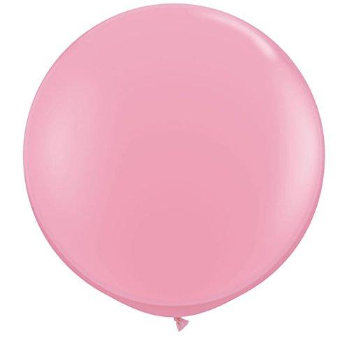 Unbekannt Qualatex 42764rund Latex Ballon, Rosa, 3ft, 2Stück