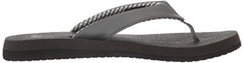Sanuk Yoga Mat 29418063, Infradito donna Charcoal