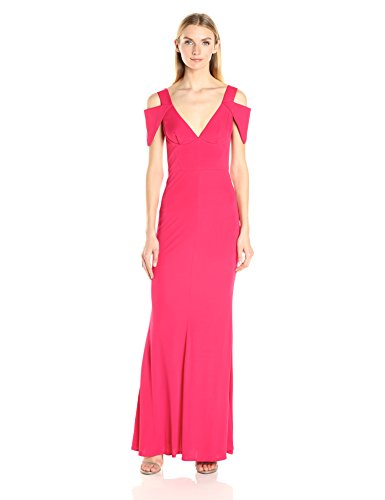 ABS-Allen-Schwartz-Womens-Triangle-Sleeve-Deep-V-Nk-Gown