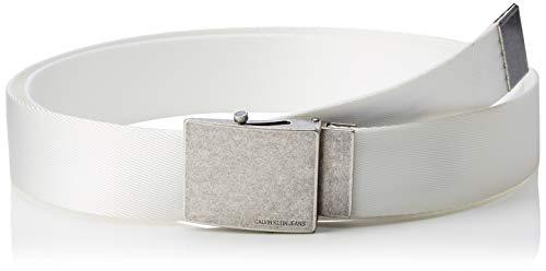 Calvin Klein Jeans Herren J 4CM Military Belt Gürtel, Weiß (Bright White 107), 675 (Herstellergröße: 95) -