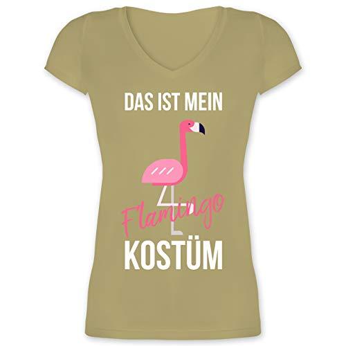 Karneval & Fasching - Das ist Mein Flamingo Kostüm - XXL - Olivgrün - XO1525 - Damen T-Shirt mit ()