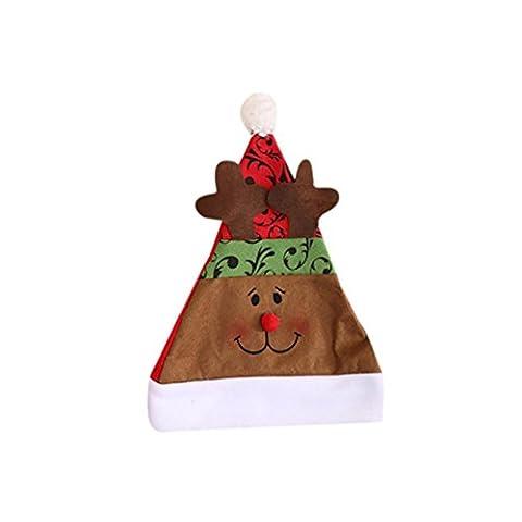 Chapeaux Joyeux Noël, Famille Casquettes de Mode de Noël pour Fête (40*30cm, C)