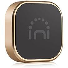 Universal Halterung, Spinido® TI-Coins Universal Aluminium Magnetische Halterung, geeignet für meistens Smartphones und andere Kleingeräte (Format: Quadrate: Gold)