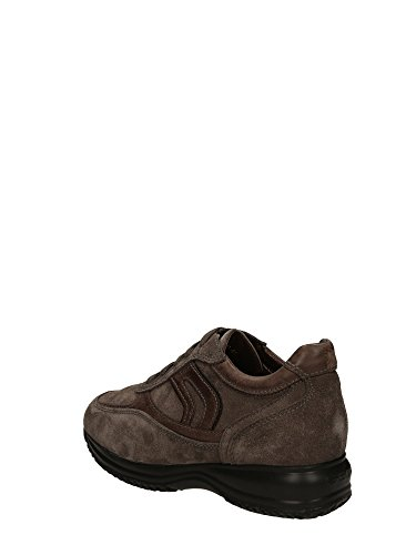 Geox Happy, Sneaker Basse Uomo Grigio chiaro