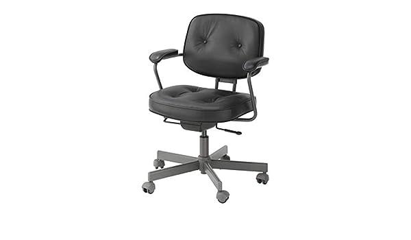 Ikea alefjall sedia girevole glose nero amazon