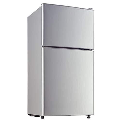 Kühlschrank 2-Schicht-Doppeltür Haushalt Energiesparender Kühlschrank und Gefrierschrank Edelstahlkühler Heizung und Kühlung Mineralwasser Getränke Kaffee Obst- und Gemüsekonservierung Lagerung Gefrie