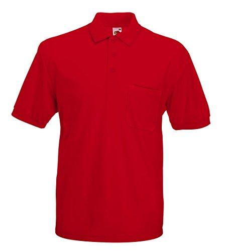 Fruit of the Loom Herren Poloshirt Pocket Polo Red