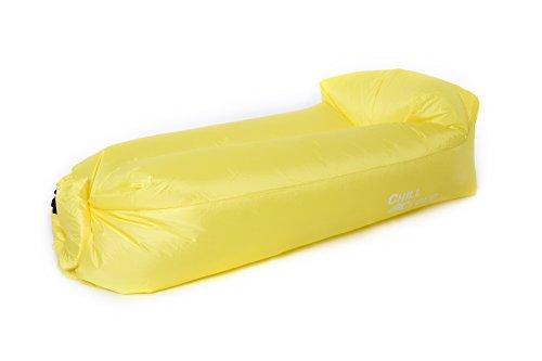 Luft-Sofa Weiterentwicklung mit integrierter Kopfstütze (Gelb)