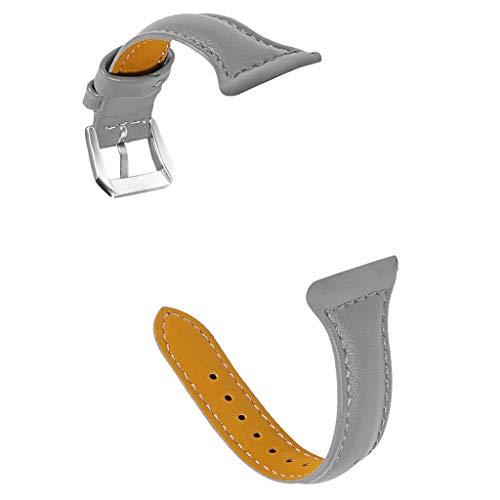 Galaxy Uhrenarmband, Webla, Leder Ersatzarmband Für Samsung Galaxy Watch Active 20Mm, Leder Grau (Gy) (Lange Auto Reichweite-tool)