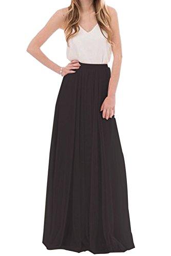 uideazone Frauen Damen Formale Tüll Rock Lange Elegante Röcke Kleid