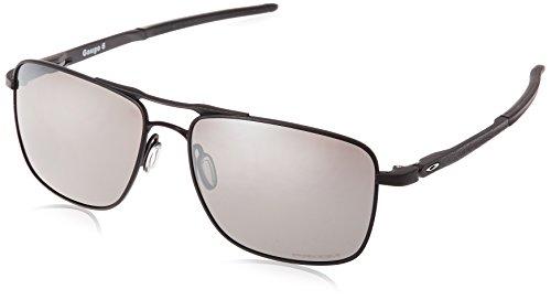 Oakley Herren Gauge801 Sonnenbrille, Mehrfarbig (Powder Coal), 57