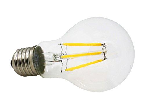 Jinda Dimmbar 6W E27 Edison retro LED Lampe ersetzt, 360°Strahlwinkel, 540LM LED Licht (Warmweiß)