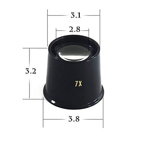 Tragbare Lupe, 4 cm lang, 3,2 cm breit, 3,2 cm dick, kann für das Lernen, Konzentrieren,...