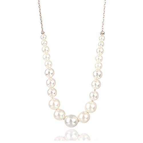 Swarovski Elements Perle Elegante Halskette in 18ct Gold Finish - Ideal Geschenk für Frauen und Mädchen - kommt in Geschenkbox