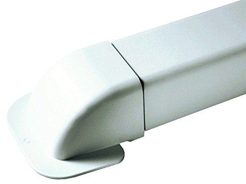 Curva a pared 80x 60para canlina de PVC para aire Aondicionador, Climatizador...