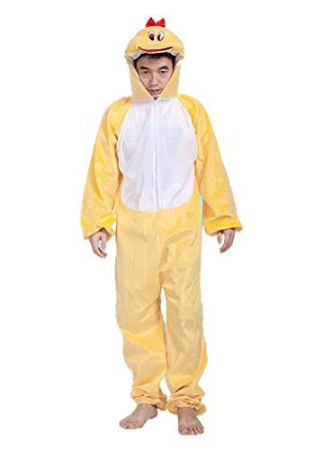 Matissa Unisex Pyjama für Erwachsene, Tierkostüm, Cosplay Gr. Kind M, Ente
