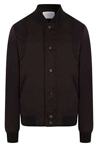 ELEVEN PARIS - Manteau - Homme - Teddy Baseball Coton Details Suede Noir pour homme Noir