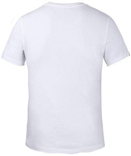 Pizoff Unisex Schmale Passform Baumwolle T Shirts mit 3D Digital Print Muster Y1780-01
