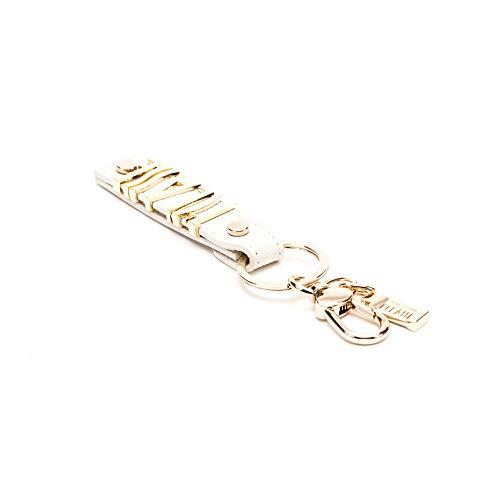 Portachiavi Logo ad anello donna Alviero Martini Prima Classe colore Ivory. Art. LPF139407