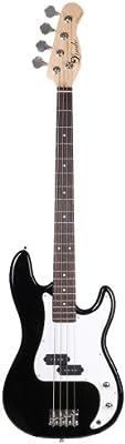 Lindo Guitars SGB-ZPB-BK - Bajo Eléctrico (metal), color negro