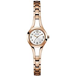 "Ysora - Shows ""Guess Evie's Round Dial Rose Gold Steel w0912l3 2.4 cm - Steel"