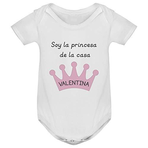 Body bebé manga corta corona personalizado