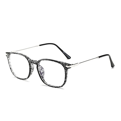 Skitic Blaulichtfilter Computerbrille Gamingbrille Ohne Stärke TR90 Rahmen Transparent Gläser...
