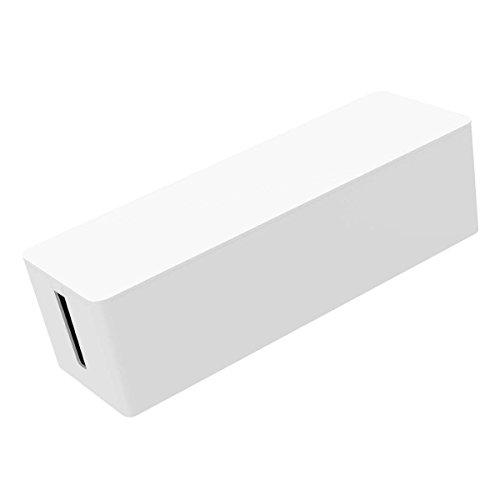 ORICO Kabelbox Kabelorganisator Steckdosenorganizer Kabelaufbewahrung Aufbewahrungsbox Ladestation Verkleidung, Lagerungsbox der Steckdosenleiste Kabel, Größe: 324 x 97 x 93 mm (Weiß)