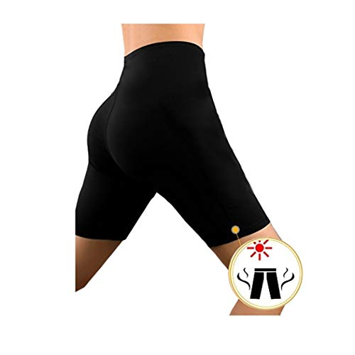 O-day® pantaloni tuta donna pantaloncini dimagranti termici anticellulite per sudare tute donna leggins crossfit donna fitness pantaloni donna perdita peso effetto sauna (l - 42)