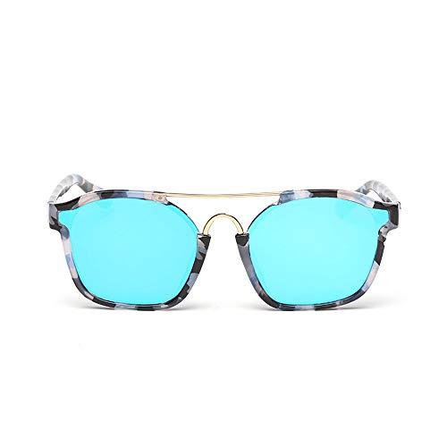 Männer Und Frauen Farbe Spiegel Objektiv UV400 Schutz Unisex Polarisierte Sonnenbrille Stilvolle Sonnenbrille Für Brille (Color : Blau, Size : Kostenlos)