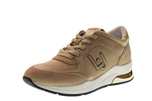 Liu Jo Scarpe Donna Sneakers Basse con Zeppa B19007 TX031 Karlie 12 Taglia 38 Beige