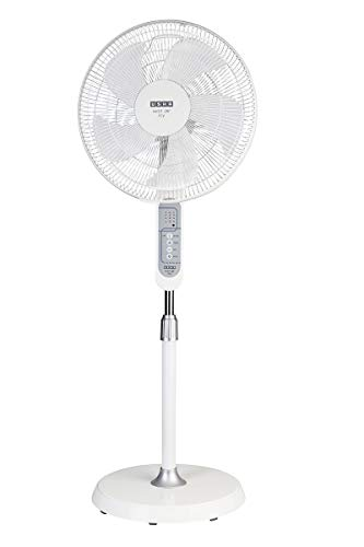 Usha Mist Air ICY with Remote 400 mm, 5 Blade, Smart Pedestal Fan, 3 Intelligent Wind Modes, Sleep Timer