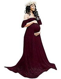 06c9f11420c3 Targogo Abiti da Donna Lunghi in Chiffon Incinta Abbigliamento da Abiti  Cerimonia di maternità Maxi Dress