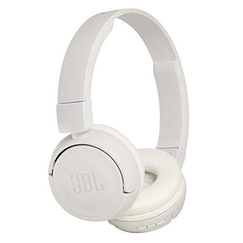 JBL T450BT On-Ear Bluetooth-Kopfhörer in Weiß - Kabellose Ohrhörer mit integriertem Headset - Bis zu 11 Stunden Musik streamen mit nur einer Akku-Ladung Over-ear Hands Free-headset
