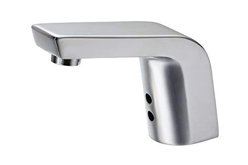Watermeetsdesign - Infrarot IR Sensorarmatur, Waschtisch, Kaltwasserarmatur, mit Batteriebetrieb, Chrom